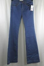 WOMENS FREE PEOPLE MEDIUM BELL BOTTOM LEG JEANS SIZE 26 ZIP FLY LOW RISE NWT $78