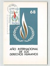 SPAIN MK 1968 HUMAN RIGHTS UNO MENSCHENRECHTE CARTE MAXIMUM CARD MC CM d9835