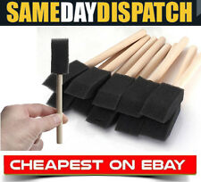 "20 x 1"" (25mm) Foam Sponge Brushes Wooden Handle For Painting Drawing Art Craft"