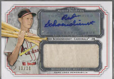 2012 Topps Museum Collection Red Schoendienst Auto Jumbo Jersey Patch 10/10
