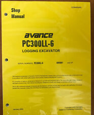 Komatsu Service PC300LL-6 Shop Repair Manual NEW