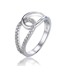 JewelryPalace 925 Sterling Silver Cubic Zirconia Teardrop Band Ring Size 8