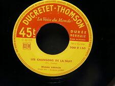 MICHELE ARNAUD Les chansons de la nuit / l ane et le gendarme ( TRENET ) 500v150