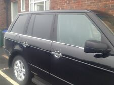 RANGE ROVER L322 WINDOW STRIPS,CHROME STAINLESS STEEL 2002+ .