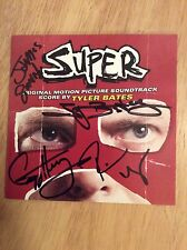 SIGNED x8 Super Soundtrack CD James Gunn Tyler Bates Henry Rooker Tsar + Pics