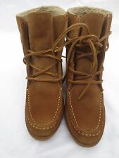 "***NWB DOLCE VITA ""SYLVIA"" SUEDE LACE UP BOOT IN ""SADDLE"" BROWN SIZE 6.5***"
