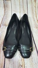 Cole Haan Womens Sz 8 Shoes Flats Nike Air Black Leather Slip ons Buckle