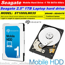 "1TB Seagate Mobile 2.5"" Internal Laptop Hard Drive SATA III 7mm 5400RPM"