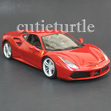 Bburago Ferrari 488 GTB 1:18 Diecast Model Car New 2016 18-16008 Red