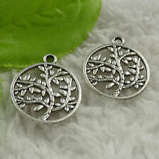 Free Ship 220 pieces tibet silver tree charms 23x20mm #4530
