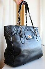 VERIFIED Authentic Rare Chanel Quilted Leather Mademoiselle Lock Large Tote Bag