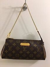 Authentic Louis Vuitton Eva Monogram Hand Shoulder Bag Clutch Pristine