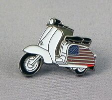 SCOOTERIST - LAPEL PIN BADGE -  UNITED STATES SCOOTER MOD ROUNDEL VESPA (103)