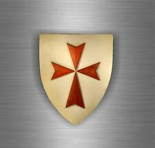 Sticker car biker maltese shield airsoft decal crusader cross templar knights E