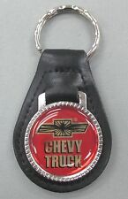 Chevrolet CHEVY TRUCK Black Leather Silver Keyring 1960 1961 1962 1963 1964 1965