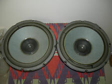Pair of Philips Audiophile 8 Ohm Woofer Speakers from Model 476 Made in Belguim