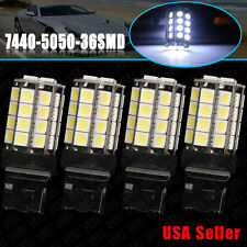 4x Super White 7440 5050 36-SMD Backup Reverse LED Light Bulbs W21W 7441