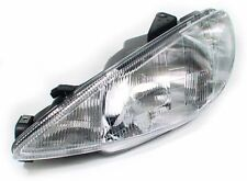 Front left side clear headlight right light for Peugeot 206 98-03