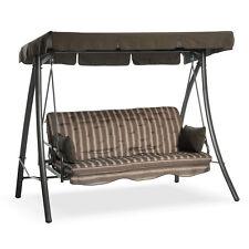 Dondolo 3 posti Panama rigato schienale reclinabile a letto 203x115xh170cm 06630