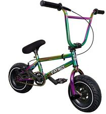 "2017 FatBoy Assault Pro Mini 10"" BMX Bicycle Freestyle Bike Neo Chrome Fat Tire"