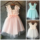 NWT Baby Girls Princess Lace Tulle Flower Tutu Backless Gown Formal Party Dress