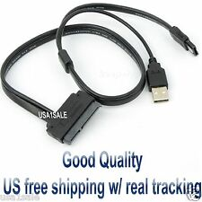 "2.5"" Inch Hard Disk Drive SATA 22Pin to eSATA Data + USB Powered Cable 20 Inches"
