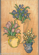 Stampendous, Rubber Stamp P-021 Botanical,  Pitcher Perfect Flowers  SSBD1-6