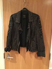 Zara Studded Faux Leather Jacket Size Medium