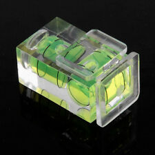 Dual Double 2 Axis Bubble Spirit Level Gradienter Hot Shoe For Canon Nikon DSLR