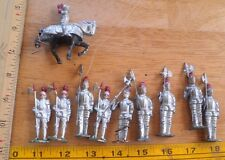 Lead soldiers lot Britains knights lances lot of 10 A1 NO RESERVE VINTAGE