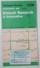 1987 OS Ordnance Survey Pathfinder map 308 Kinloch Rannoch Shciehallion NN65/75