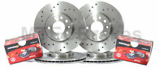 Mercedes C32 AMG [W203]01-04 Drilled Only Front Rear Brake Discs & Pads