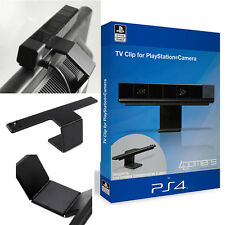 Black Hard Plastic Adjustable Clip TV Stand Hold Holder Camera Mount For PS4