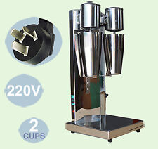 220V Double Head Milk Shake Mixer Machine Stainless Steel+2 CUPS