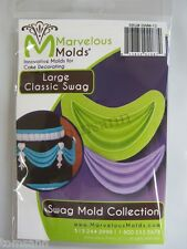 Marvelous Molds Swag Collection -Large Classic Swag- fondant gum paste cake