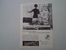 advertising Pubblicità 1960 OROLOGIO EBERHARD SCAFODAT