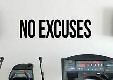 Motivational Quotes No Excuses Wall Decal Gym Fitness Sport Vinyl Sticker 27