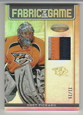 CHET PICKARD 2012-13 CERTIFIED FABRIC OF THE GAME MIRROR GOLD PRIME JERSEY OF 25