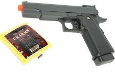 Airsoft Metal Spring Pistol Gun 1911 Full Size G6 High Power 300 FPS Free 1000RD