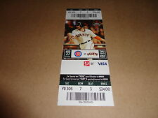 GIANTS 2015 TICKET STUB 8/27/15 VS CUBS~Kelby Tomlinson FIRST MLB HR