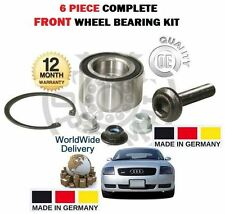 FOR AUDI TT TURBO QUATTRO VR6 1999-2006 NEW FRONT WHEEL BEARING KIT COMPLETE