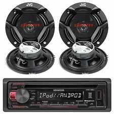 "KDC168U Indash Car MP3 Player Pandora iPod AM/FM Stereo Receiver+4 6.5"" Speakers"