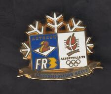 Pin's Arthus Bertrand - Jeux olympiques Albertville 92 - Antenne 2 - France 3