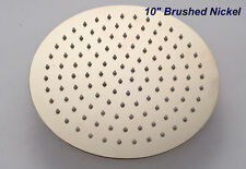 """Round Style 10"""" Brushed Nickel Rain Shower Faucet Replacement Top Sprayer Head"""