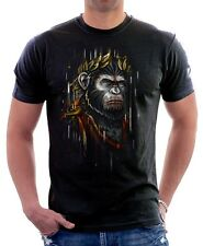 CAESAR Dawn of the Planet of the Apes black t-shirt 9626