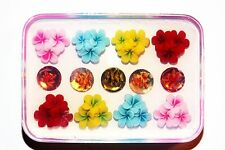 Clear-silicone flowers, beads mold.Flowers 40mm,Round-15mm,(1-46)