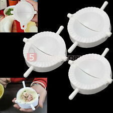 3x White Plastic DIY Dumpling Empanada Dough Press Mold Mould Maker Tool New