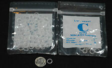 """100 CLEAR Orthodontic Rubber Bands 4 Hair Brace 1/4"""" - Dog Bow"""