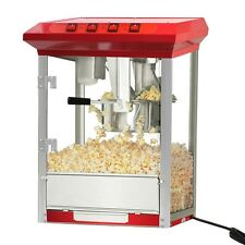 Durable 8oz Deluxe Popcorn Popper Maker Machine Red Table Top Tabletop Theater