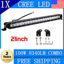 21 inch 100W Slim CREE Single Row Combo Led Offroad Light bar Jeep Boat 4X4 20""